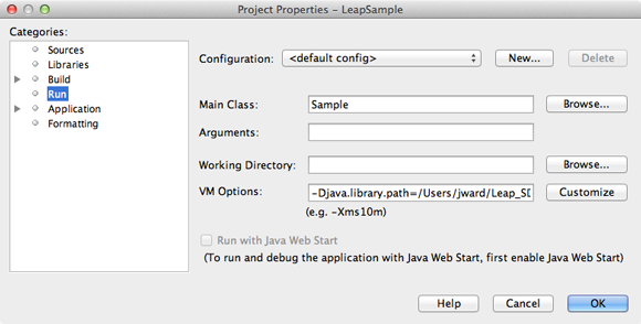 Setting Up a Project — Leap Motion Java SDK v3 2 Beta