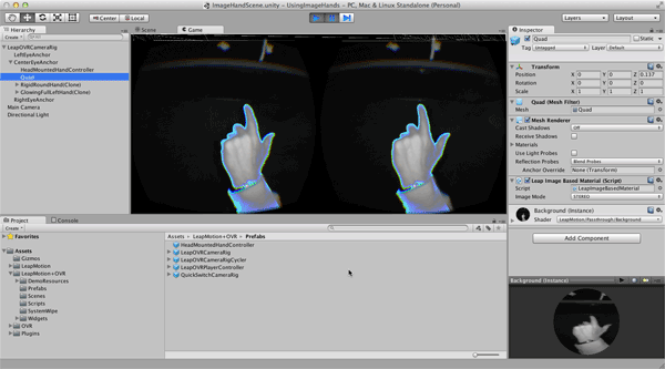 Using the Image Hand Assets in version 2 3 1 — Leap Motion Python