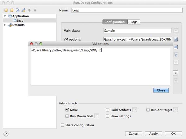 Setting Up a Project — Leap Motion Java SDK v2 3 documentation