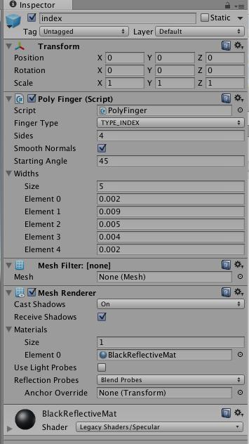 PolyFinger — Leap Motion Unity SDK v2 3 documentation