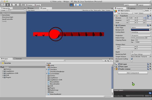 Customizing the Slider Widget — Leap Motion Unity SDK v2 3 documentation